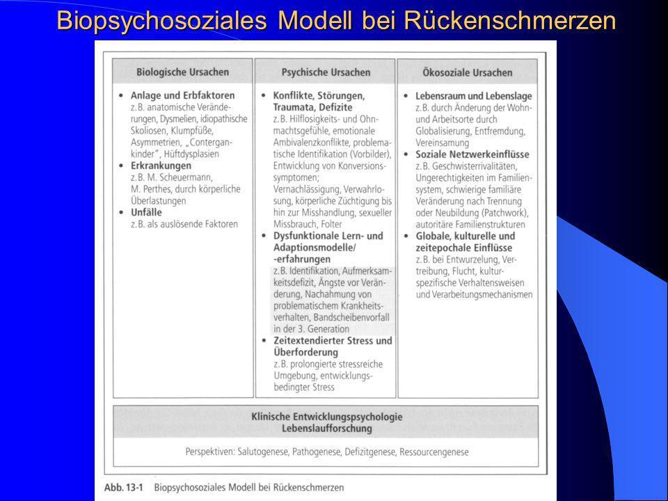 Biopsychosoziales Modell bei Rückenschmerzen