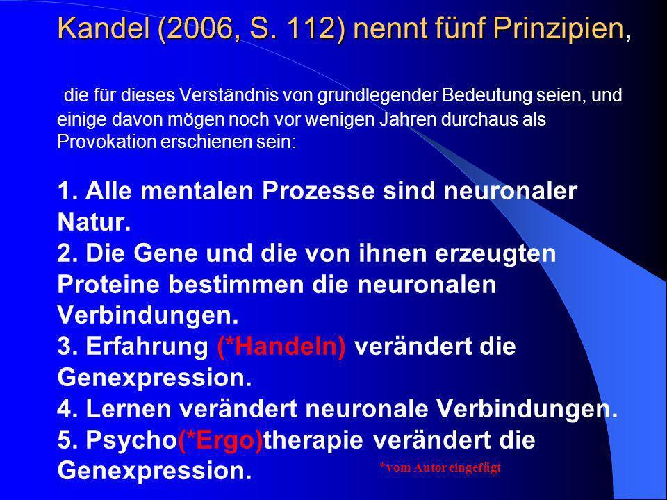 Kandel (2006, S. 112) nennt fünf Prinzipien Kandel (2006, S. 112) nennt fünf Prinzipien, die für dieses Verständnis von grundlegender Bedeutung seien,