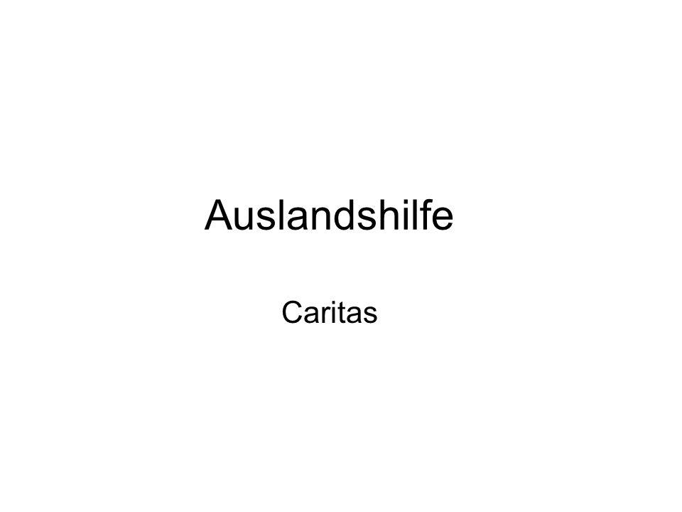 Auslandshilfe Caritas