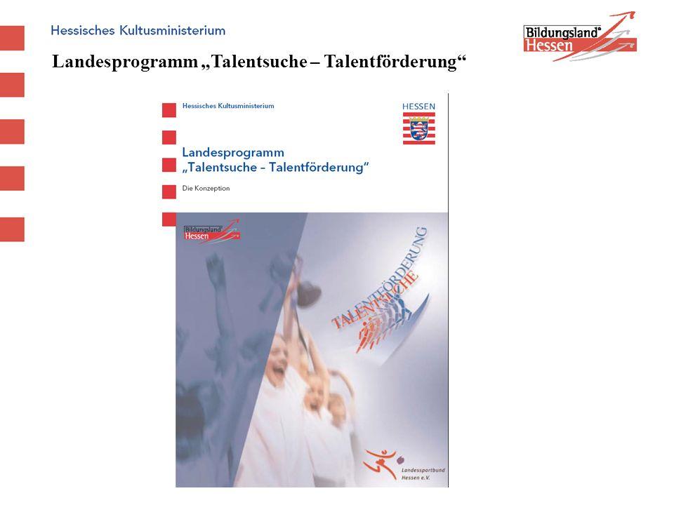 Landesprogramm Talentsuche – Talentförderung