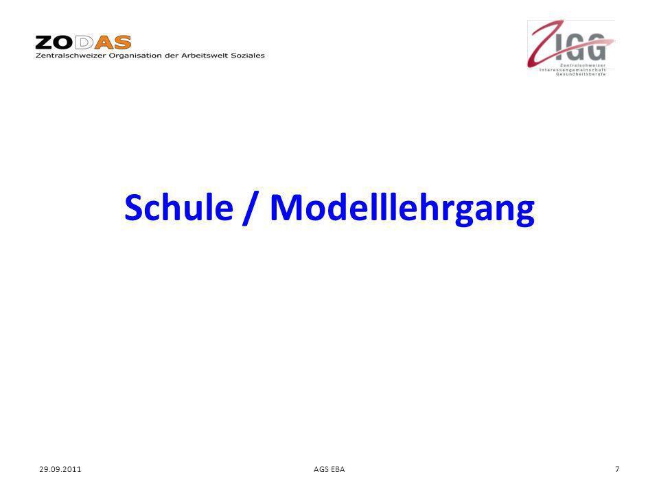29.09.2011AGS EBA7 Schule / Modelllehrgang