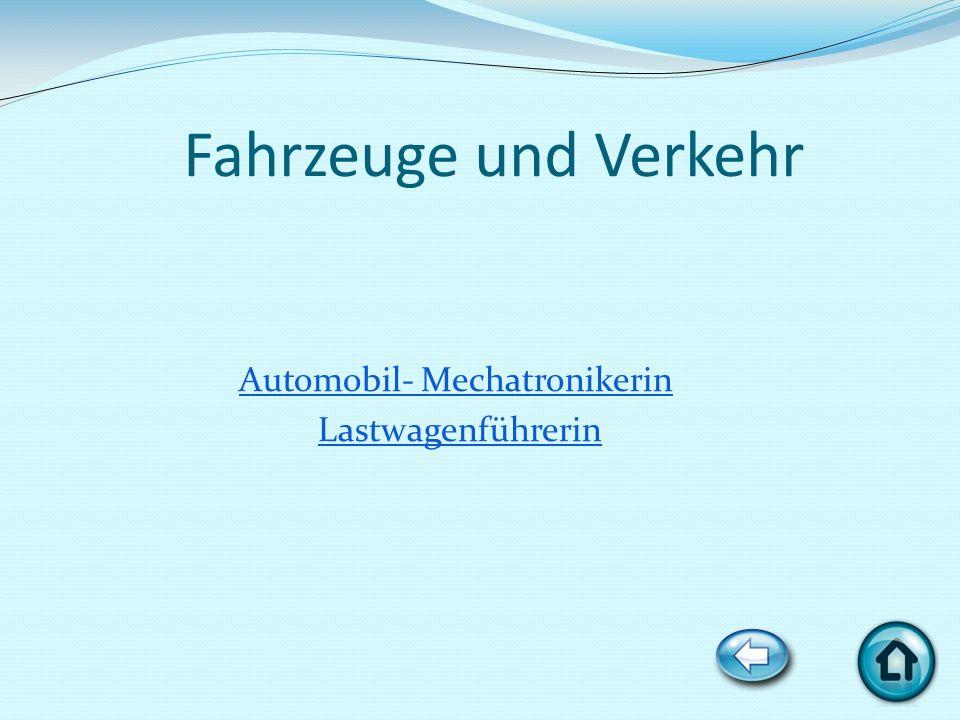 Fahrzeuge und Verkehr Automobil- Mechatronikerin Lastwagenführerin