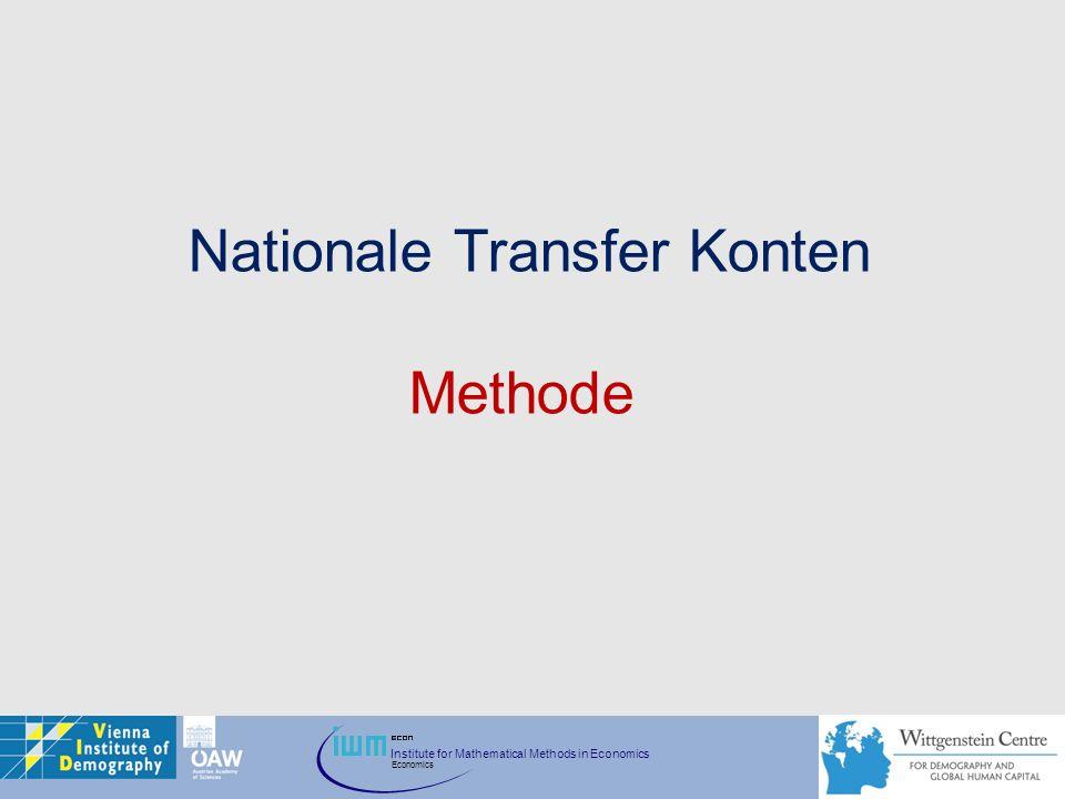 Institute for Mathematical Methods in Economics Economics Nationale Transfer Konten Methode