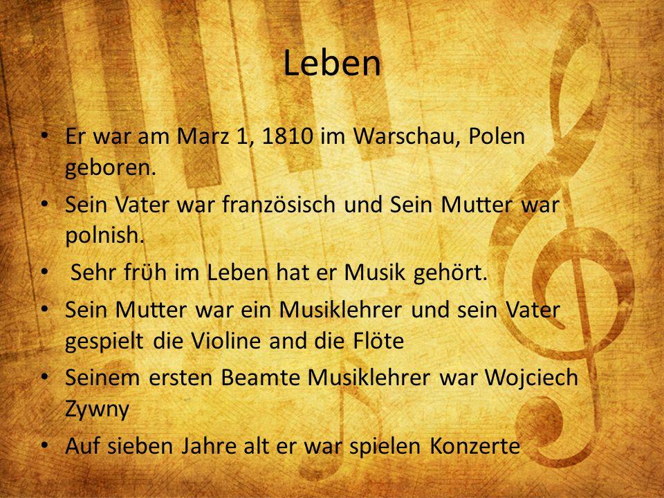 Leben Er war am Marz 1, 1810 im Warschau, Polen geboren.