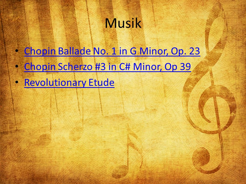 Musik Chopin Ballade No. 1 in G Minor, Op.