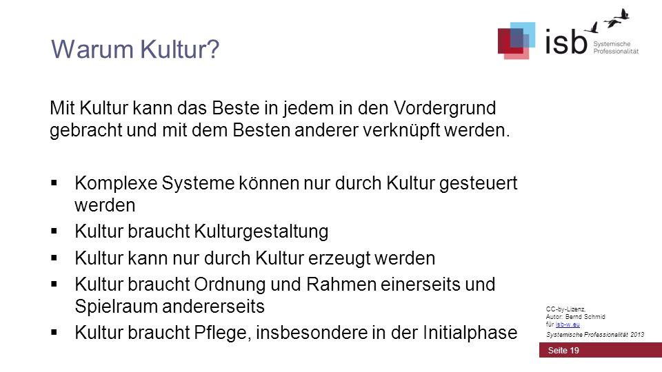 CC-by-Lizenz, Autor: Bernd Schmid für isb-w.euisb-w.eu Systemische Professionalität 2013 Mit Kultur kann das Beste in jedem in den Vordergrund gebrach