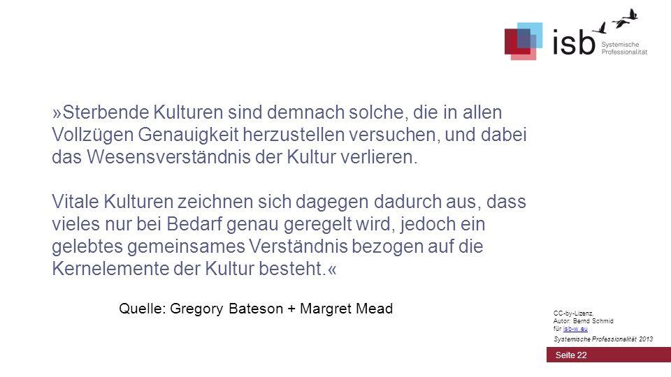 CC-by-Lizenz, Autor: Bernd Schmid für isb-w.euisb-w.eu Systemische Professionalität 2013 »Sterbende Kulturen sind demnach solche, die in allen Vollzüg