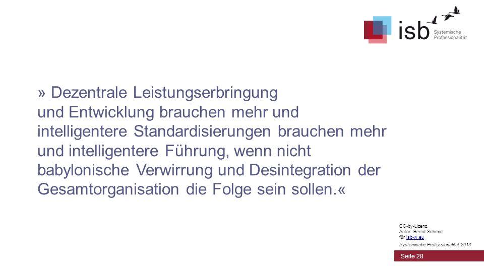 CC-by-Lizenz, Autor: Bernd Schmid für isb-w.euisb-w.eu Systemische Professionalität 2013 » Dezentrale Leistungserbringung und Entwicklung brauchen meh