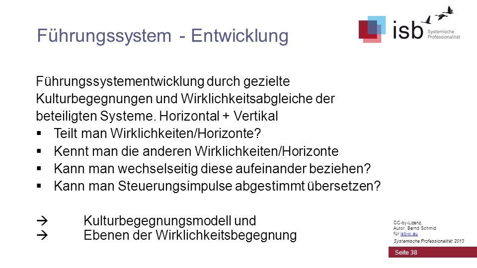 CC-by-Lizenz, Autor: Bernd Schmid für isb-w.euisb-w.eu Systemische Professionalität 2013 Führungssystementwicklung durch gezielte Kulturbegegnungen un