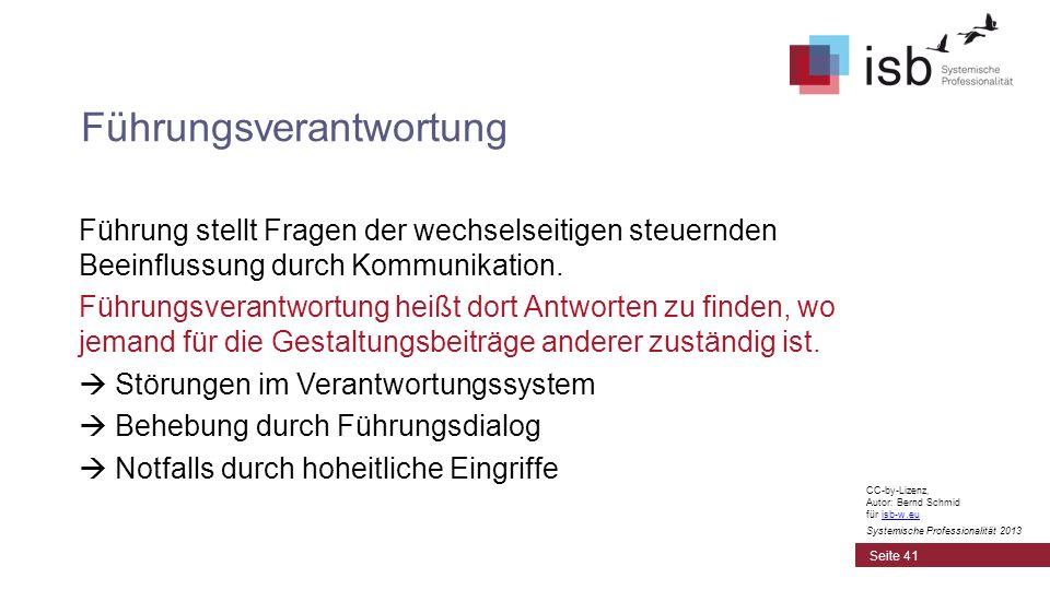 CC-by-Lizenz, Autor: Bernd Schmid für isb-w.euisb-w.eu Systemische Professionalität 2013 Führung stellt Fragen der wechselseitigen steuernden Beeinflu