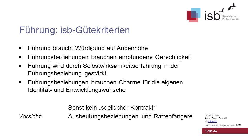 CC-by-Lizenz, Autor: Bernd Schmid für isb-w.euisb-w.eu Systemische Professionalität 2013 Führung braucht Würdigung auf Augenhöhe Führungsbeziehungen b