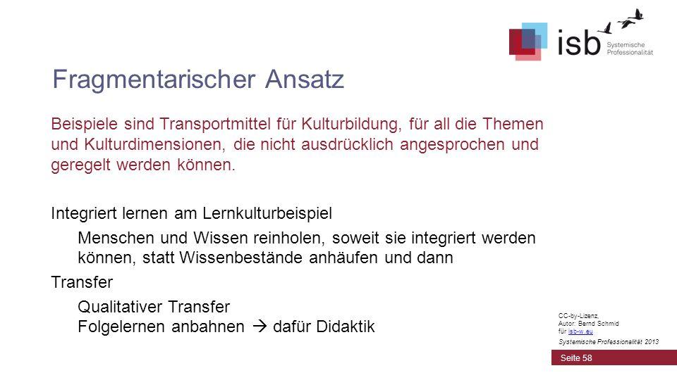 CC-by-Lizenz, Autor: Bernd Schmid für isb-w.euisb-w.eu Systemische Professionalität 2013 Beispiele sind Transportmittel für Kulturbildung, für all die