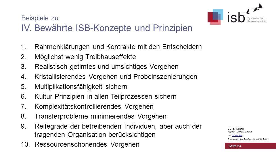 CC-by-Lizenz, Autor: Bernd Schmid für isb-w.euisb-w.eu Systemische Professionalität 2013 1.Rahmenklärungen und Kontrakte mit den Entscheidern 2.Möglic