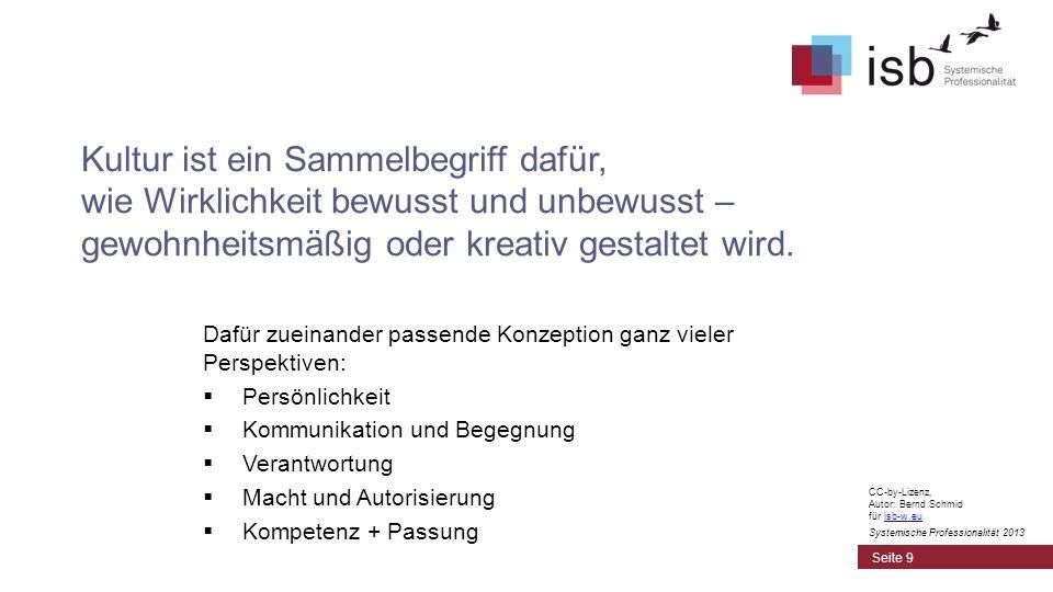 CC-by-Lizenz, Autor: Bernd Schmid für isb-w.euisb-w.eu Systemische Professionalität 2013 Metaperspektiven Seite 10