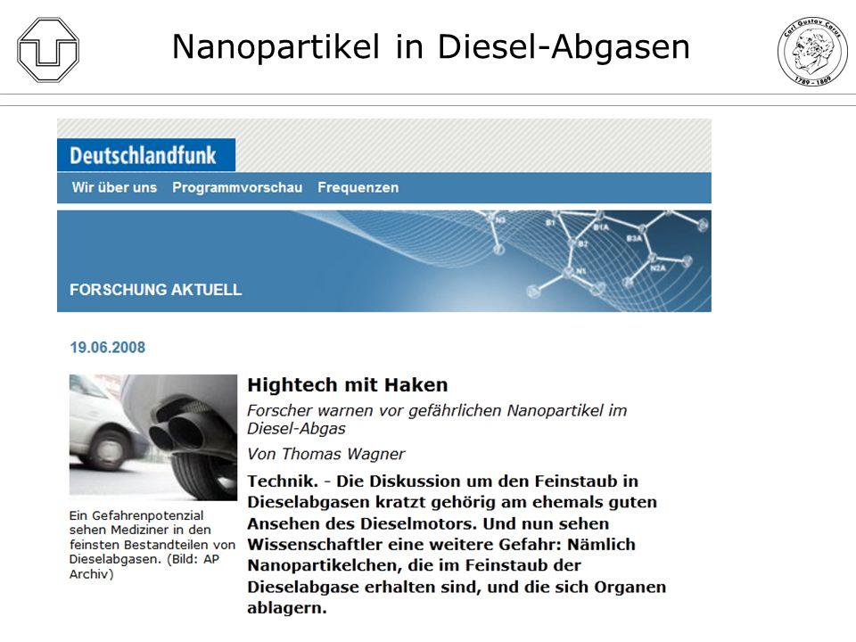 Diskussion und Schlussfolgerungen 1.Einstufung von Dieselabgasen als definitiv krebserregend beim Menschen durch die IARC = derselben Gruppe 1 zugeordnet wie bspw.