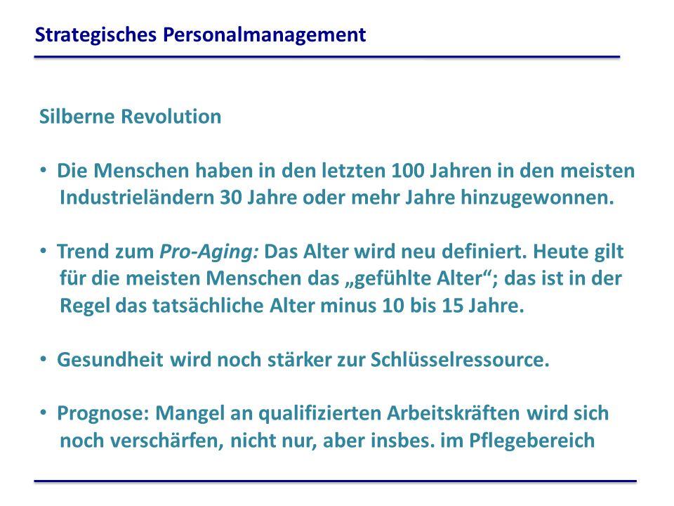 Silberne Revolution Die Menschen haben in den letzten 100 Jahren in den meisten Industrieländern 30 Jahre oder mehr Jahre hinzugewonnen. Trend zum Pro