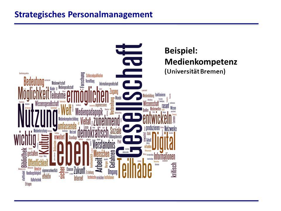Beispiel: Medienkompetenz (Universität Bremen) Strategisches Personalmanagement