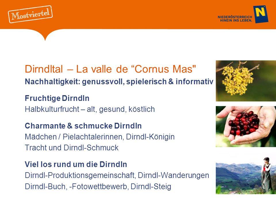 Dirndltal – La valle de Cornus Mas