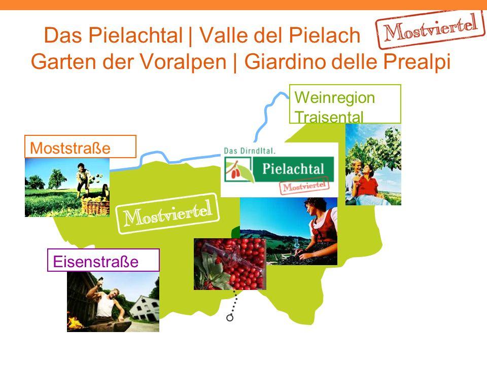 Das Pielachtal | Valle del Pielach Garten der Voralpen | Giardino delle Prealpi Moststraße Eisenstraße Weinregion Traisental