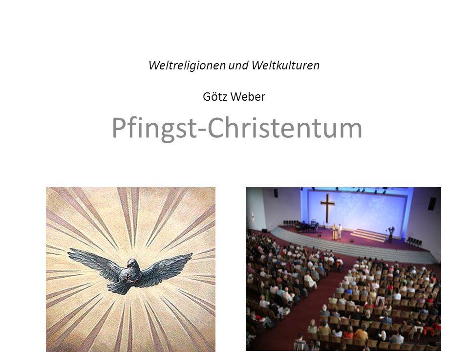 2 Das Pfingst-Christentum Vorgeschichte: Reformation und Erweckung Geschichte und Richtungen der Pfingstbewegung Kennzeichen der Pfingstbewegung Leben in der Pfingstgemeinde Die weltweite Pfingstbewegung heute