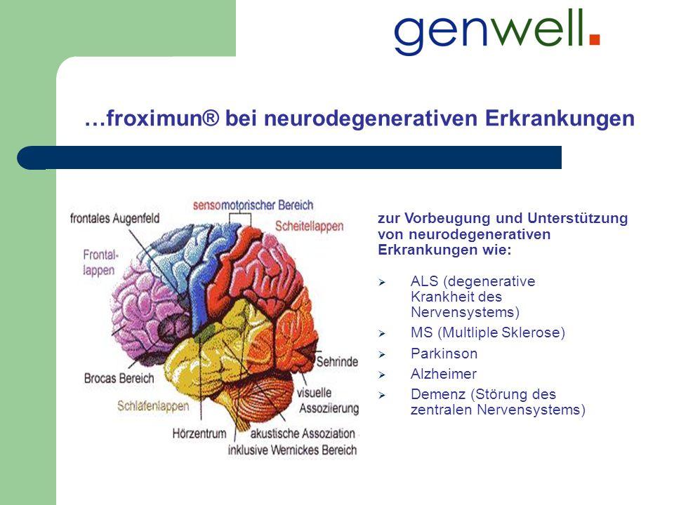 …froximun® bei neurodegenerativen Erkrankungen zur Vorbeugung und Unterstützung von neurodegenerativen Erkrankungen wie: ALS (degenerative Krankheit d