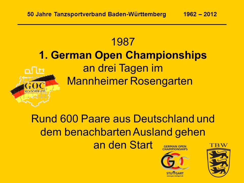 50 Jahre Tanzsportverband Baden-Württemberg 1962 – 2012 ______________________________________________________________ 1987 1.