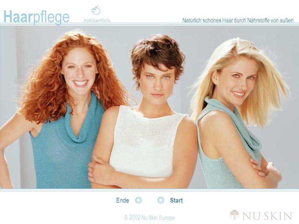 © 2002 Nu Skin Europe Start Ende Natürlich schönes Haar durch Nährstoffe von außen. Haar pflege