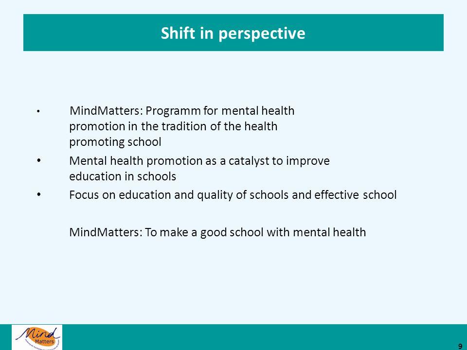 Mit psychischer Gesundheit gute Schule machen Eine Ressource für die Sekundarstufe I 10