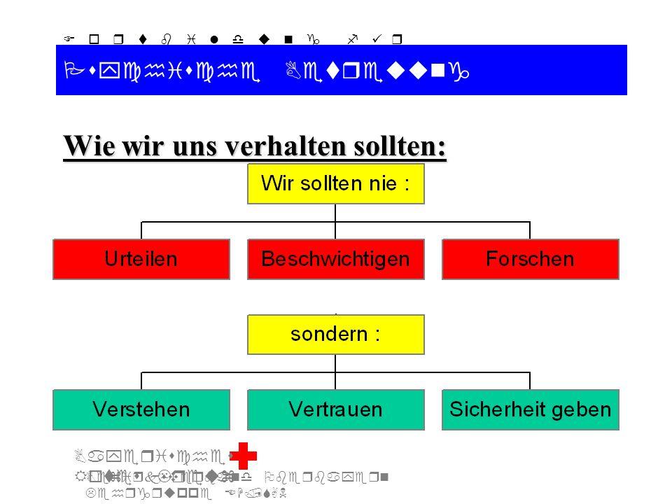 Bezirksverband Oberbayern Lehrgruppe EH/SAN F o r t b i l d u n g f ü r d i e A u s b i l d e r S A N Bayerisches Rotes Kreuz Psychische Betreuung Wie