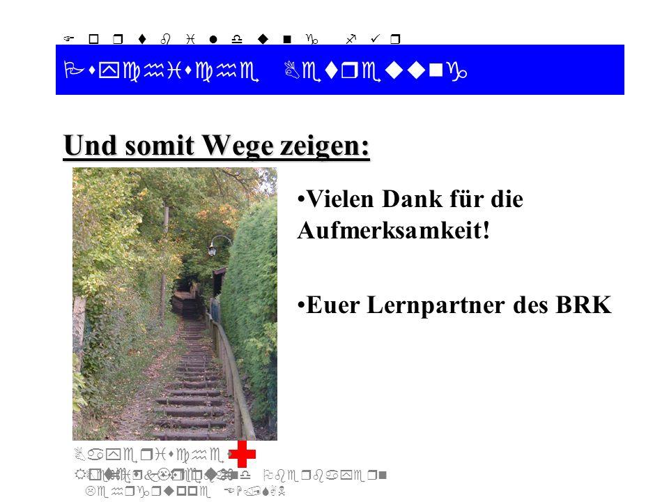 Bezirksverband Oberbayern Lehrgruppe EH/SAN F o r t b i l d u n g f ü r d i e A u s b i l d e r S A N Bayerisches Rotes Kreuz Psychische Betreuung Und