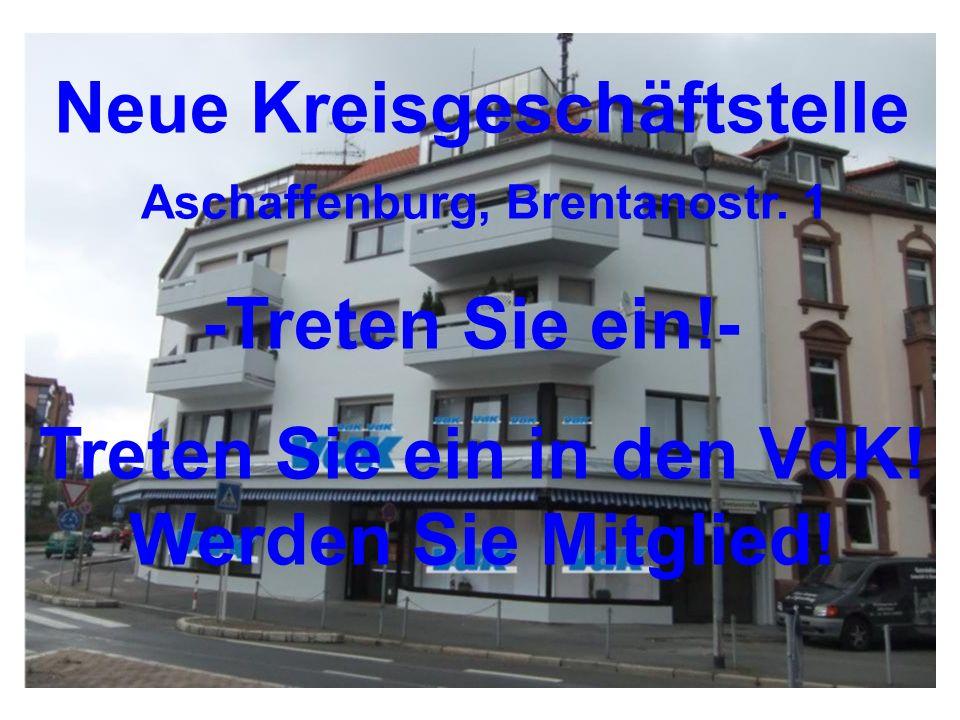 Neue Kreisgeschäftstelle Aschaffenburg, Brentanostr.