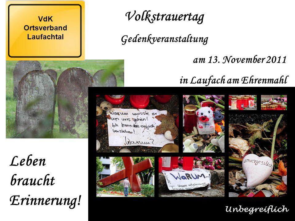 Volkstrauertag Gedenkveranstaltung am 13.