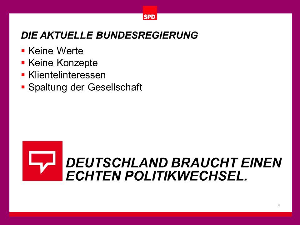Das vertraute SPD-Quadrat ist das Markenzeichen der SPD.