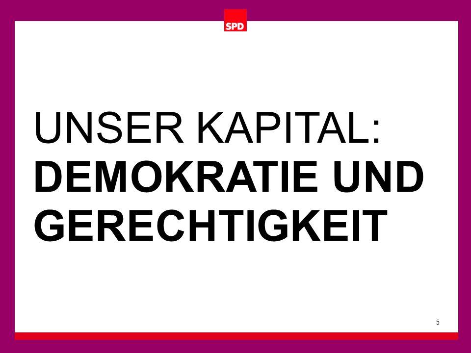 Hauptfarbe bleibt das Rot.Es steht für die Tradition der SPD.