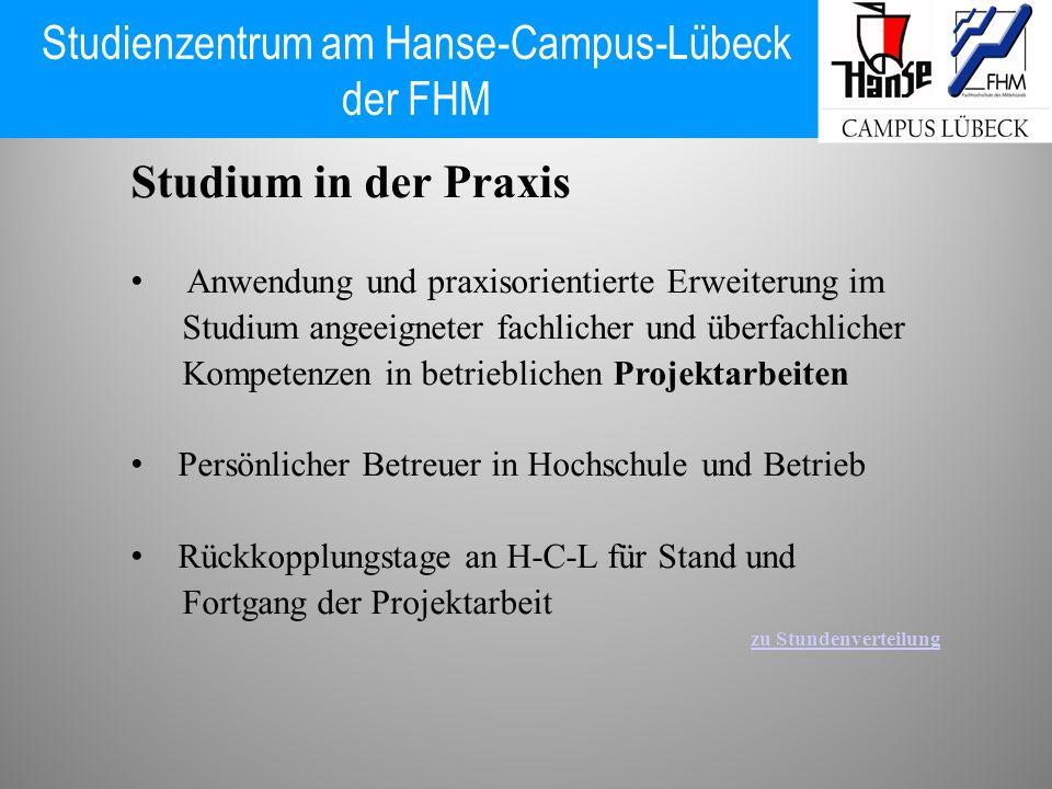 Studium in der Praxis Anwendung und praxisorientierte Erweiterung im Studium angeeigneter fachlicher und überfachlicher Kompetenzen in betrieblichen P