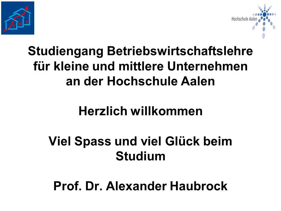 Programm für die Einführungstage Montag 09.10.06: Begrüßung, Hochschulführung, Studieninformation Dienstag 10.10.06: 09.00 Uhr: Treffen im Seminarraum der VR-Bank Aalen (Wilhelm-Zapf-Straße).
