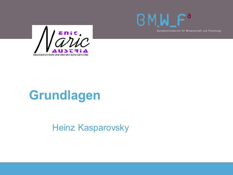 Grundlagen Heinz Kasparovsky