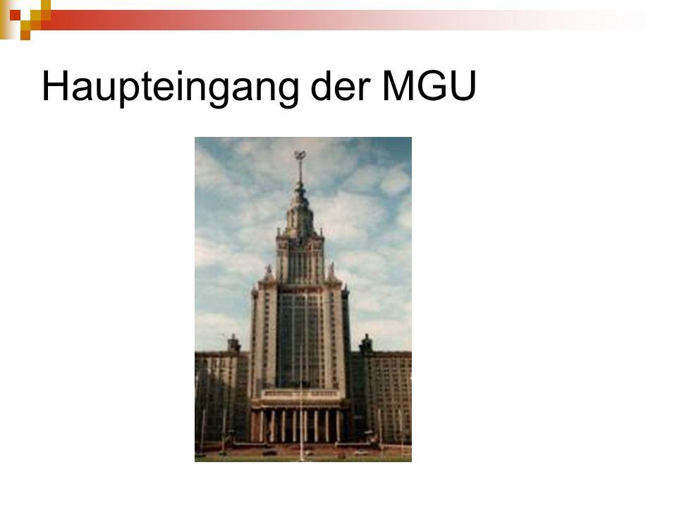 Haupteingang der MGU