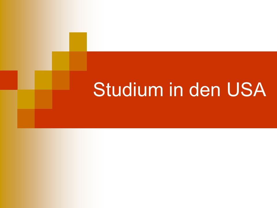 Studium in den USA