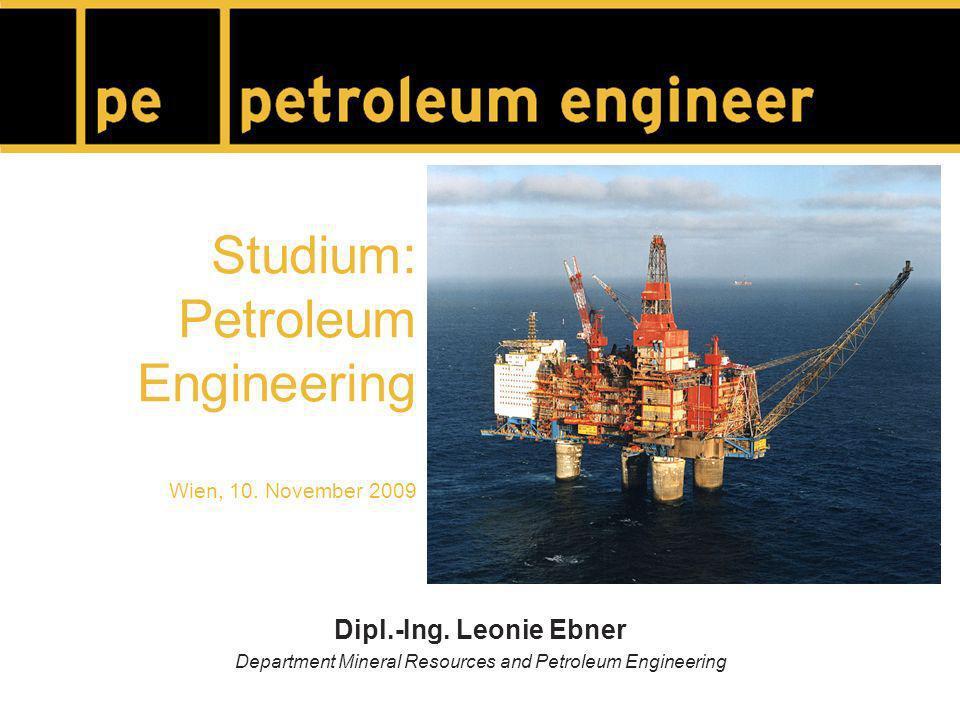 Studium: Petroleum Engineering Wien, 10.November 2009 Dipl.-Ing.