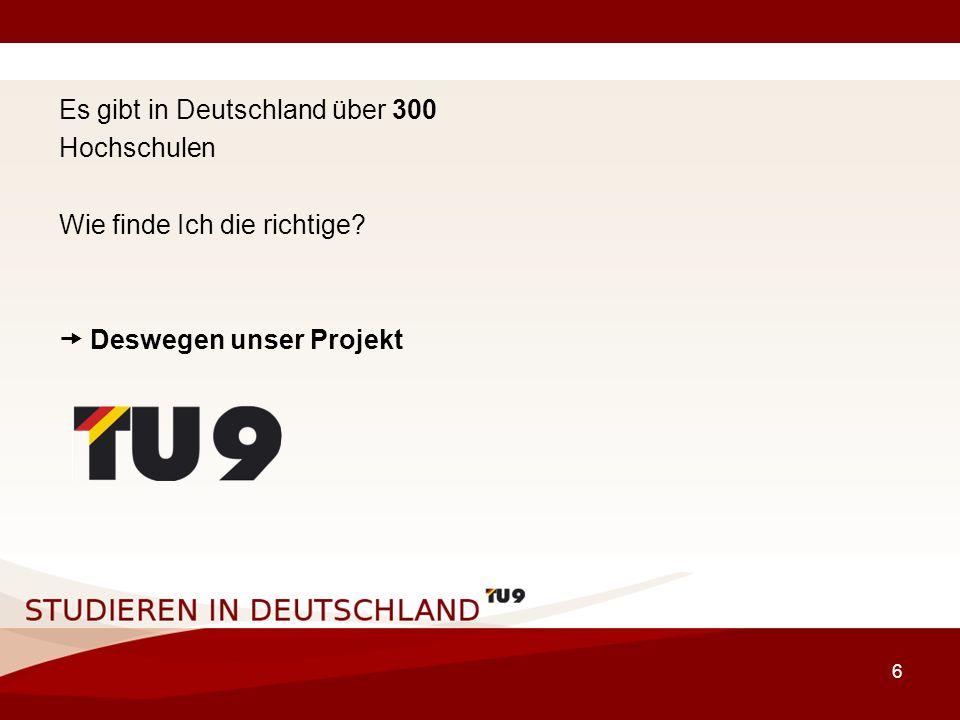 17 Die TU9 Hochschulen Gründungsjahr: 1868 Anzahl Studenten: 20.000 Anteil ausländischer Studierender: ca.