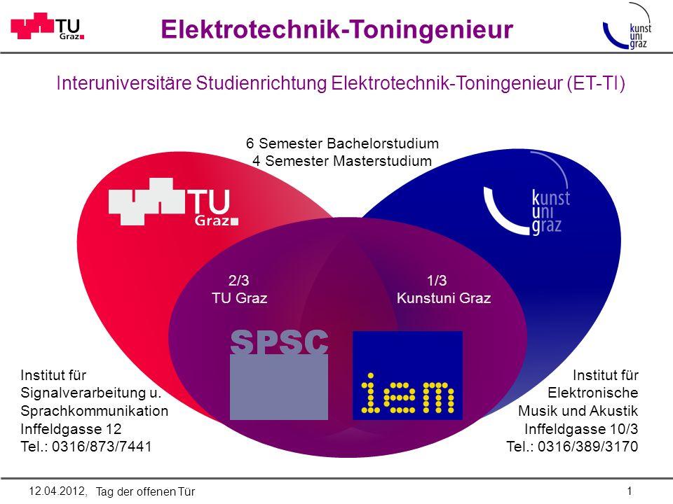 Elektrotechnik-Toningenieur Institut für Elektronische Musik und Akustik Inffeldgasse 10/3 Tel.: 0316/389/3170 Institut für Signalverarbeitung u.
