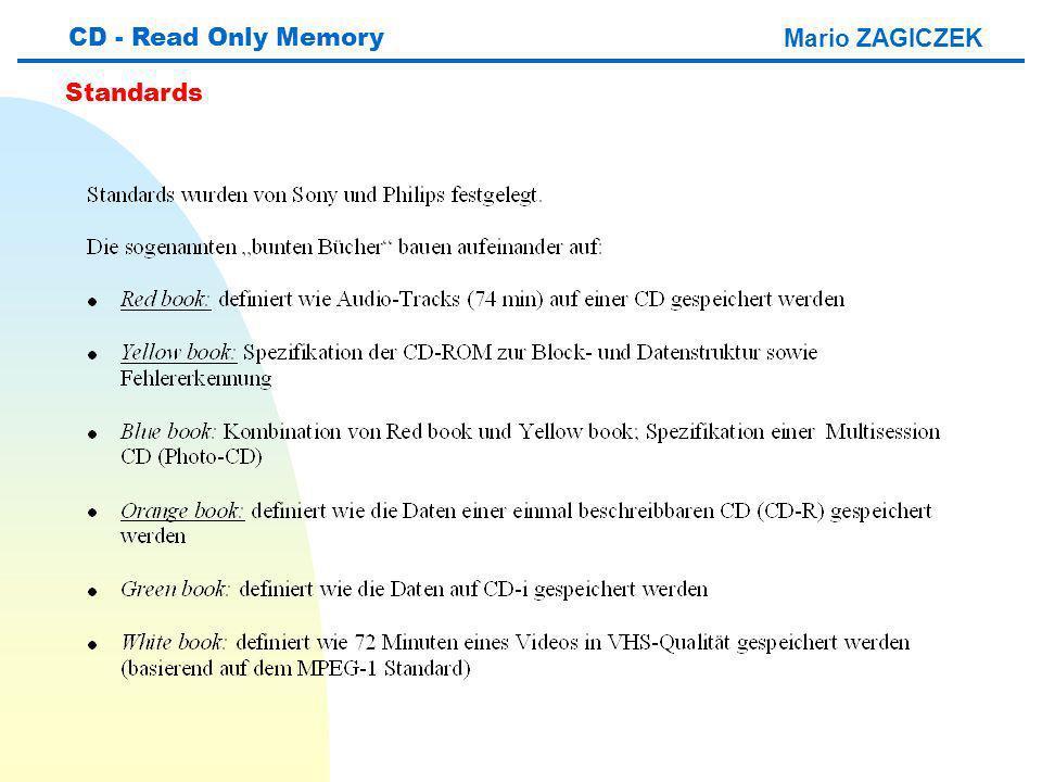 Mario ZAGICZEK CD - Read Only Memory Standards