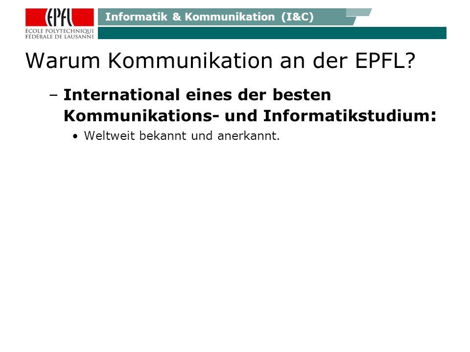 Informatik & Kommunikation (I&C) Leben in Lausanne…