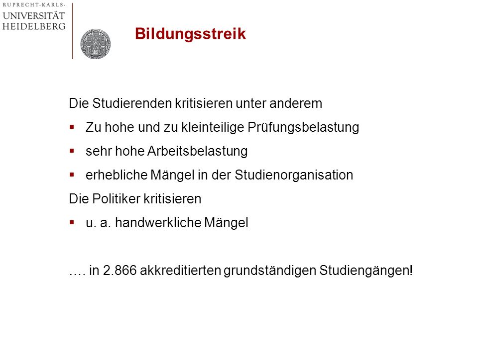 Qualitätsmanagement – Kür Systemakkreditierung – Pflicht Autonomie der Hochschulen vs.