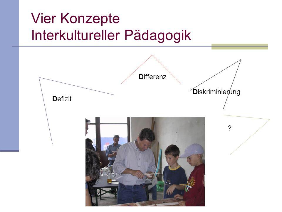 Defizit Differenz Diskriminierung Vier Konzepte Interkultureller Pädagogik