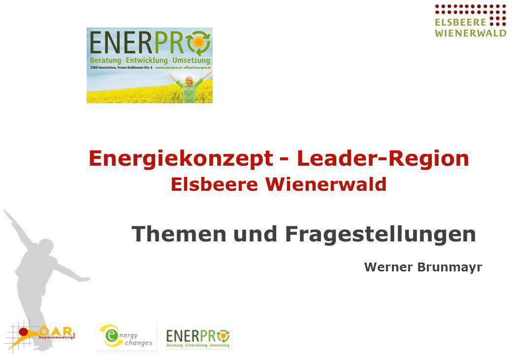 Energiekonzept - Leader-Region Elsbeere Wienerwald Themen und Fragestellungen Werner Brunmayr