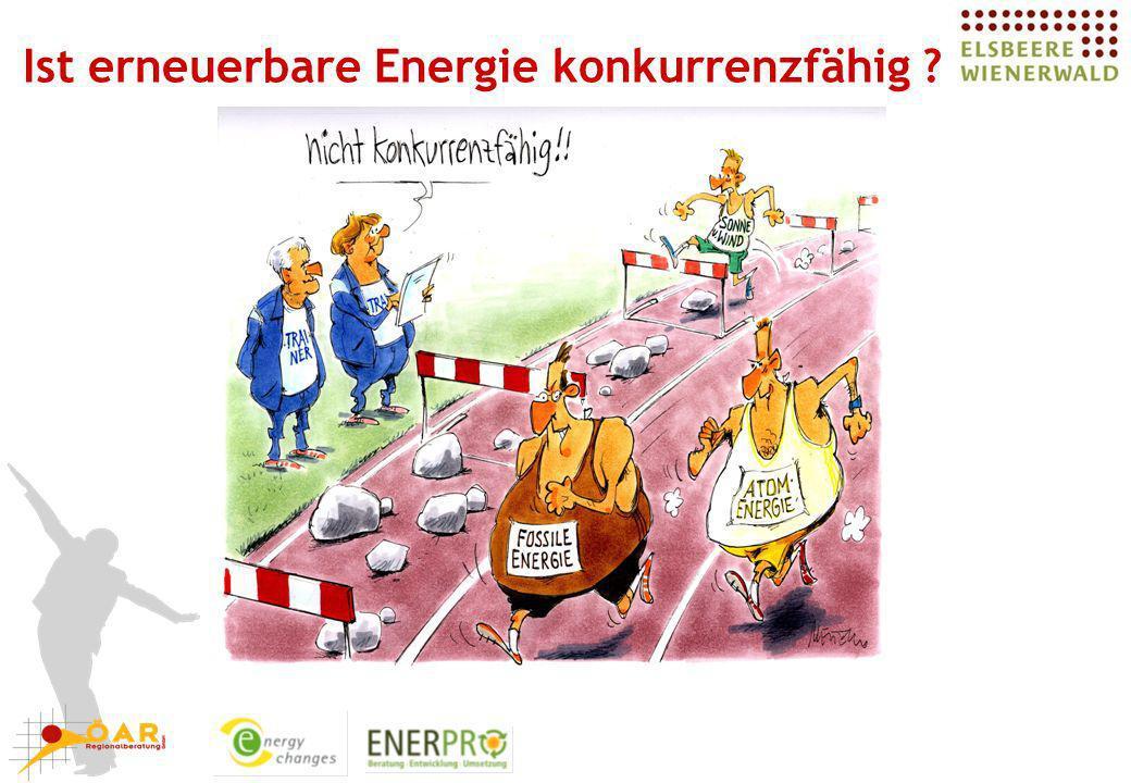 Ist erneuerbare Energie konkurrenzfähig ?