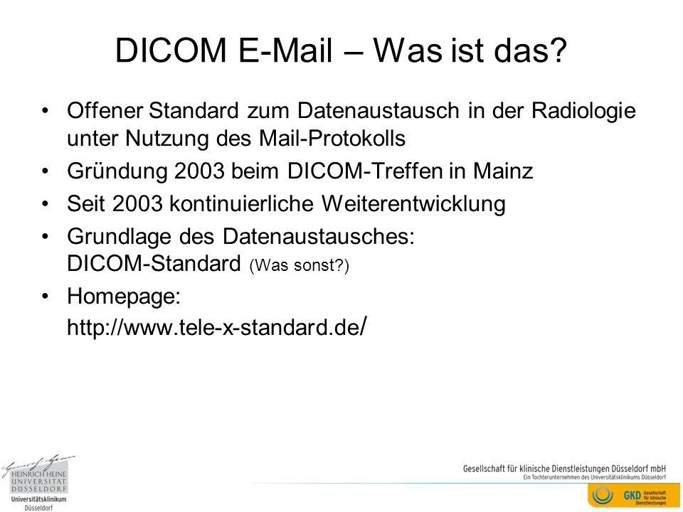 DICOM E-Mail – Was ist das.