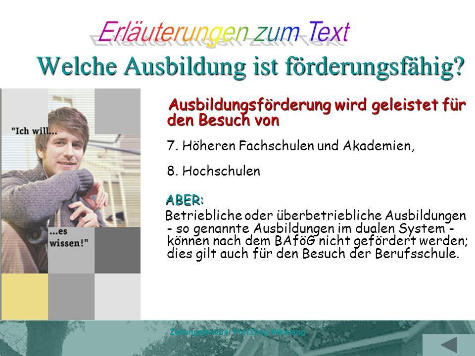 Zeitungslektüre Prof.Ding Weixiang TEIL Text--- Bafög und andere Alternativen Zum Beispiel ein Studiengebühren-Darlehen, angeboten von der jeweiligen Landesbank, also in hiesigen Fall der NRW.Bank.